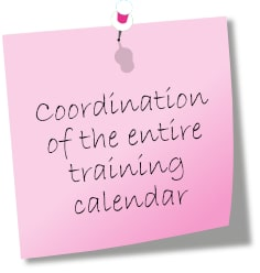 Coordination of the entire training calendar